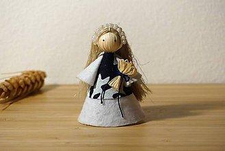 Bábiky - Dlhovlásková nevesta s kytičkou - 10745749_