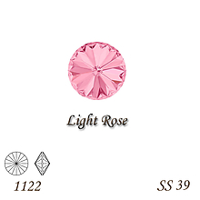 Korálky - SWAROVSKI® ELEMENTS 1122 Rivoli - Light Rose, SS 39(8mm), bal.1ks - 10746698_