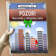 Papiernictvo - Pozor! Maturantka z občianskej náuky - zakladač - 10744867_