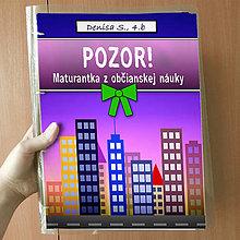 Papiernictvo - Pozor! Maturantka z občianskej náuky - zakladač (večer) - 10744868_