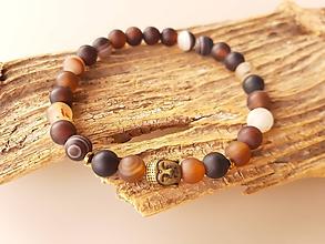 Šperky - Náramok achát a buddha - 10749968_