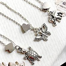Náramky - Animal Heart Bracelet / Náramok so srdcom a príveskom - 10749260_