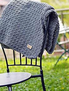 Textil - Detská deka BIG MERINO: sivá - 10748815_