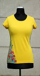 Tričká - Ručne maľované tričko - Abstract art II. - 10750128_
