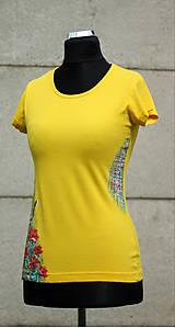 Tričká - Ručne maľované tričko - Abstract art II. - 10750129_