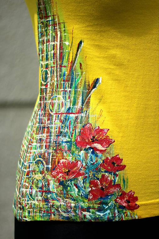 Ručne maľované tričko - Abstract art II.