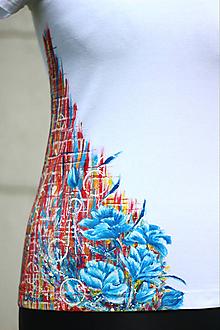 Tričká - Ručne maľované tričko - Abstract art I. - 10750126_