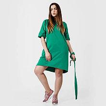 Šaty - Šaty s vreckami  Green - 10749240_