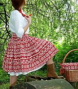 Sukne - Sukňa Čičmany červené - 10748785_
