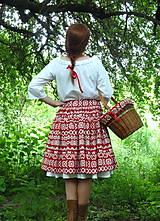 Sukne - Sukňa Čičmany červené - 10748786_