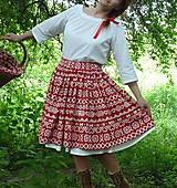 Sukne - Sukňa Čičmany červené - 10748787_