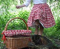 Sukne - Sukňa Čičmany červené - 10748788_