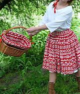 Sukne - Sukňa Čičmany červené - 10748789_