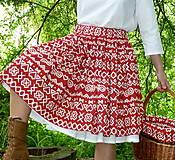 Sukne - Sukňa Čičmany červené - 10748809_
