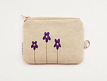 Peňaženky - Peňaženka/dokladovka - Fialka voňavá - 10750541_