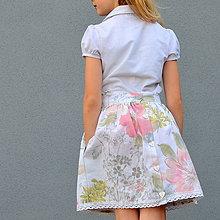 Detské oblečenie - sukňa GOMBÍKOVÁ  s MAXI vreckami - 10748992_