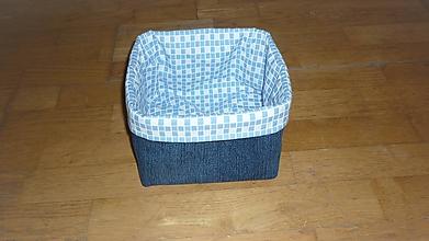 Košíky - Košík z rífloviny (dno 17x17 cm, výška (po vyhnutí) 12 cm,) - 10750782_