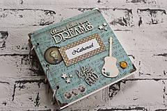 Pamätník / zápisník/notes pre milovníka hudby