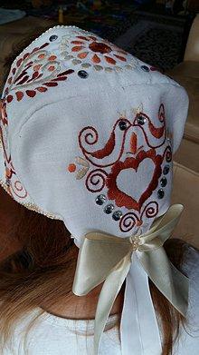 Iné doplnky - svadobný čepiec - 10751039_