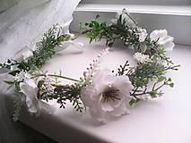 Svadobný kvetinový venček do vlasov ...z lásky k Tebe...