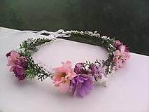 Ozdoby do vlasov - Kvetinový venček do vlasov ...nežné pohladenie... - 10749244_