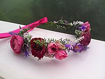 Ozdoby do vlasov - Kvetinový venček do vlasov ...milovaná... - 10749277_