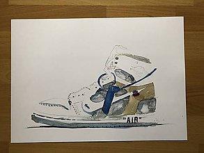 Grafika - Nike off white air jordan print - 10750990_