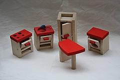 Drevené hračky. Detský nábytok - kuchyňka.