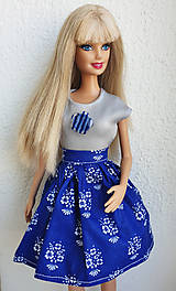 Hračky - Folk suknička pre Barbie - 10751080_