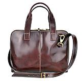 Na notebook - Kožená taška na notebook alebo dokumenty A4 v hnedej farbe - 10749885_