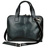 Na notebook - Kožená taška na notebook alebo dokumenty A4 v čiernej farbe - 10749891_