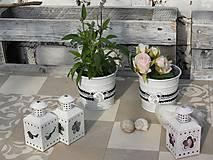 Nádoby - Romantický obal na květináč s krajkou malý - 10751016_