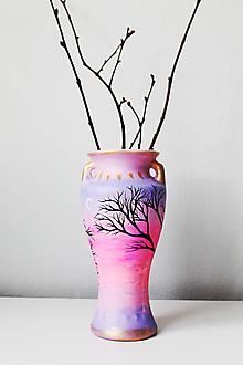 Dekorácie - Váza - Poetický večer - 10750117_