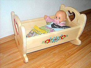 Hračky - Kolíska pre bábiku - 10748747_