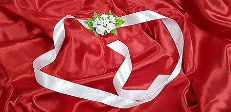 Náramky - Biely svadobný kvetinový náramok - 10749374_