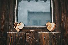 Dekorácie - Drevené srdiečko (rôzne dreviny) - 10749553_