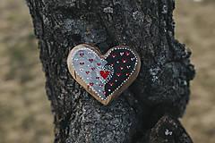 Dekorácie - Drevené srdiečko (rôzne dreviny) - 10749557_