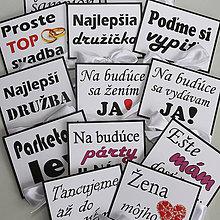 Darčeky pre svadobčanov - Tabuľky na fotenie - 4 kusy - text podľa výberu - 10751205_