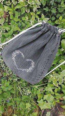 Batohy - Rifľový batoh / vak z recyklovaného denimu - 10751221_