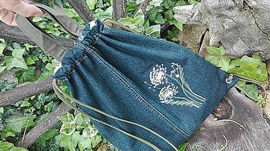 Batohy - Rifľový batoh / taška 2 v 1  z recyklovaného denimu - 10751264_