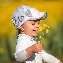 Detské čiapky - Letná šiltovka púpavy - 10750852_