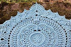 Úžitkový textil - Háčkovaná dečka Marion (Modrá) - 10749536_