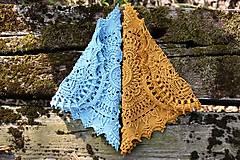 Úžitkový textil - Háčkovaná dečka Marion (Modrá) - 10749540_