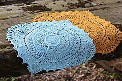 Úžitkový textil - Háčkovaná dečka Marion (Modrá) - 10749559_