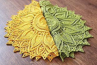 Úžitkový textil - Háčkovaná dečka Ulita (Zelená) - 10749420_