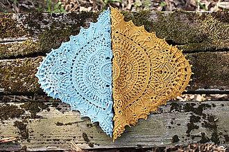Úžitkový textil - Háčkovaná dečka Marion (Modrá) - 10749543_