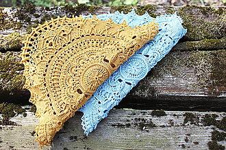 Úžitkový textil - Háčkovaná dečka Marion (Meď/Bronz) - 10749551_