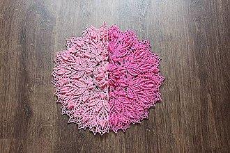 Úžitkový textil - Háčkovaná dečka Idunn (Ružová) - 10749751_
