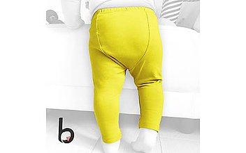 Detské oblečenie - Detské bavlnené legíny Nappy Yellow - 10749974_