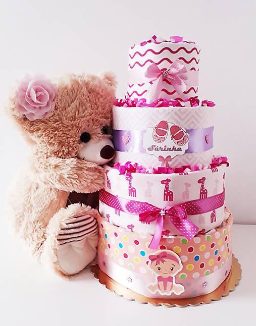 Plienková torta KLASIK ružová